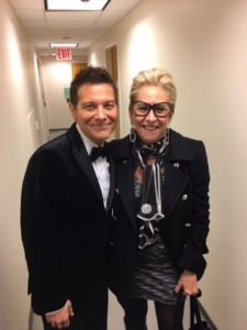 Bonnie and Michael Feinstein standing together.