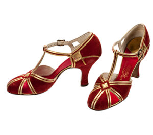 Red and Gold Shoes
