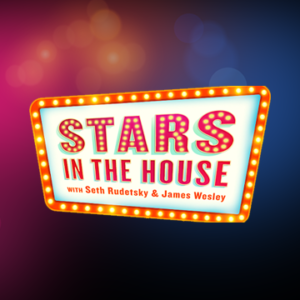 Stars in the House poster, words floating on a colorful cloud.
